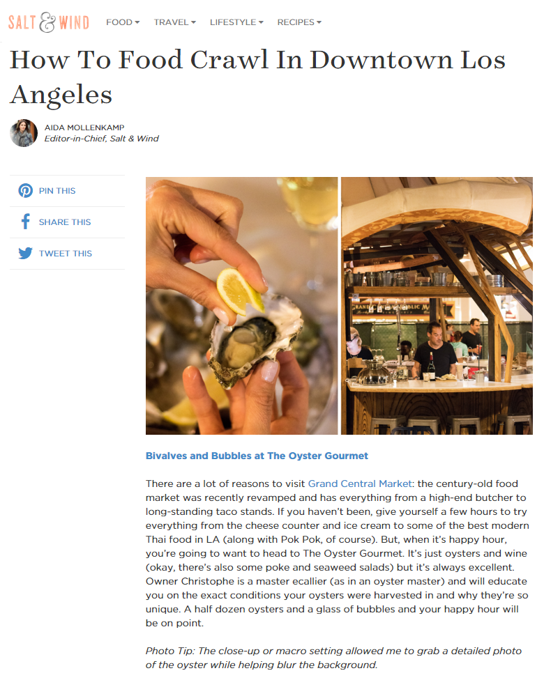 article the oyster gourmet