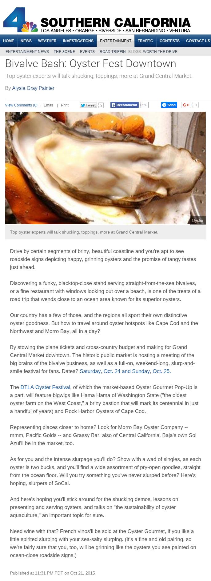 oyster gourmet LA
